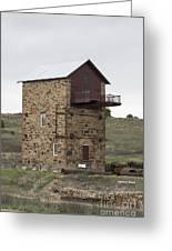 Copper Mine Enginehouse Greeting Card