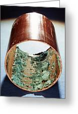 Copper Pipe Deposits Greeting Card