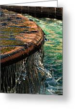 Copper Spill Greeting Card