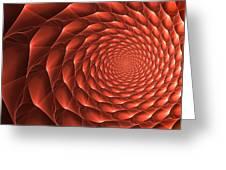 Copper Spiral Vortex Greeting Card