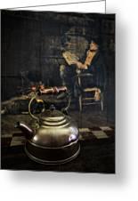 Copper Teapot Greeting Card by Debra and Dave Vanderlaan