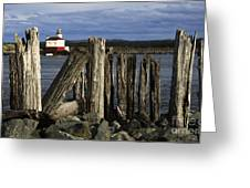 Coquille Lighthouse Oregon 3 Greeting Card