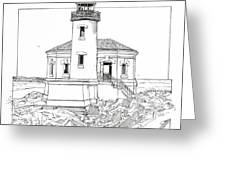 Coquille River Light Greeting Card