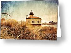 Coquille River Lighthouse - Texture Greeting Card