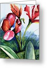 Coral Flower Study Greeting Card