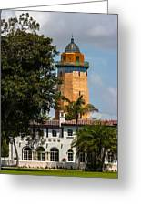 Coral Gables House And Water Tower Greeting Card