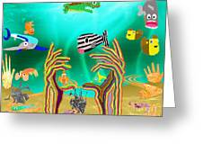 Coral Hands Greeting Card
