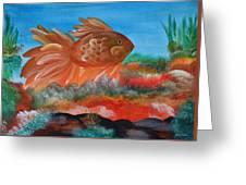 Coral Land Goldfish Greeting Card