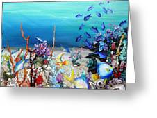 Coral Reef Blues  Greeting Card
