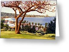 Coral Tree With La Jolla Shores Greeting Card