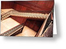 Corcoran Gallery Staircase Greeting Card