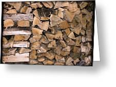 Cord Wood Greeting Card