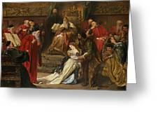 Cordelia In The Court Of King Lear, 1873 Greeting Card