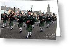 Corduff Pipe Band St Patricks Day Parade Carrickmacross Greeting Card