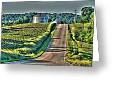 Corduroy Corn And Seersucker Silos Greeting Card