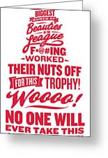 Corey Crawford Cup Speech Greeting Card