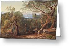 Corfu From Santa Decca Greeting Card