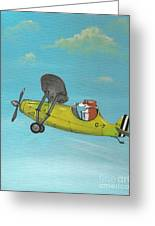 Corgi Aviator Greeting Card