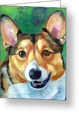 Corgi Smile Greeting Card by Lyn Cook