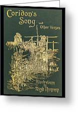 Coridons Song And Other Verses Greeting Card