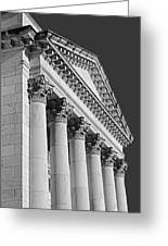Corinthian Columns Bw Greeting Card