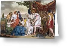 Coriolanus And His Mother Volumnia Greeting Card