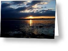 Cork Harbour Sunset Greeting Card