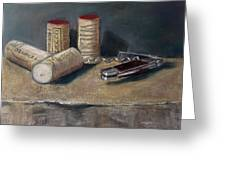 Corks Number 5 Greeting Card