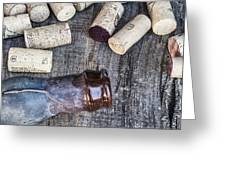 Corks With Bottle Greeting Card