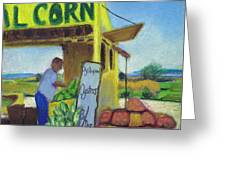Corn And Oysters Farmstand Greeting Card
