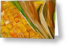 Corn In The Husk Greeting Card