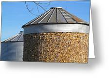 Corn Storage Greeting Card