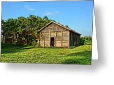 Corncrib In Afternoon Light Greeting Card