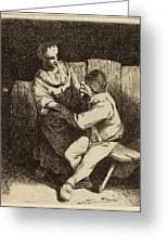 Cornelis Bega Dutch, 1631-1632 - 1664, The Refused Caress Greeting Card
