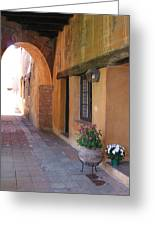 Corner Arch, Mission San Juan Capistrano, California Greeting Card
