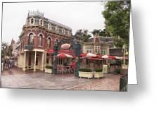 Corner Cafe Main Street Disneyland 02 Greeting Card