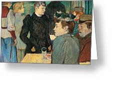 Corner Of Moulin De La Galette Greeting Card by Henri de Toulouse Lautrec