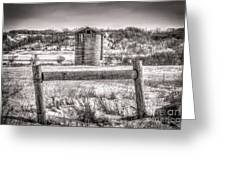 Corner Posts And Silo Greeting Card