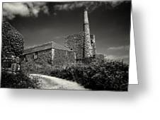 Cornish Tin Mine. Greeting Card