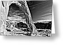 Corona In Black And White Greeting Card