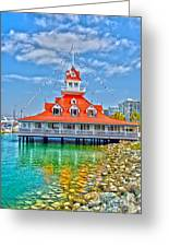 Coronado Boat House Greeting Card