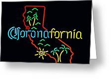 Coronafornia Greeting Card