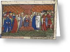 Coronation Of Charles Vi Greeting Card