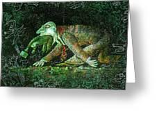 Corporate Predator Greeting Card