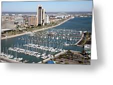 Corpus Christi Marina Aerial Greeting Card
