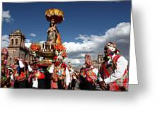 Corpus Cristi In Cusco Greeting Card