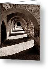 Corridors Of Stone Greeting Card