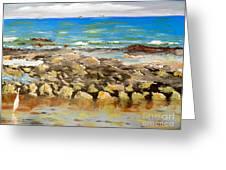 Corrimal Beach Near Towradgi Rook Pool Greeting Card