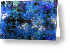 Corrosion Bleue Greeting Card