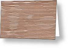 Corrugated Cardboard Greeting Card